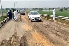 kmp expressway was in disarray due to road breaks inaugurated 8 months ago