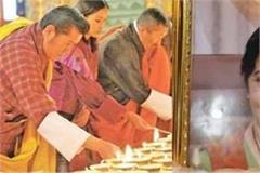 bhutan king lights thousand lamps in memory of swaraj offers prayers