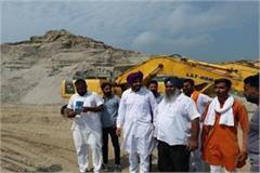 mla davinder ghubaya suddenly checked against illegal mining