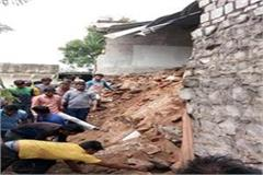 government school wall collapsed a year ago