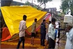 narmada bachao andolan platform is broken due to heavy rains