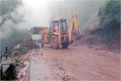 landslide on chandigarh manali manikaran nh