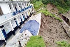 danger to school by landsliding