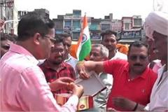 celebration of revoke article 370 and 35a in haryana