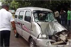 faridabad 1 schoolgirl killed after school van bus filled with children