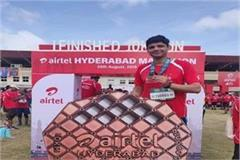 ias ashish sangwan participated in hyderabad marathon race