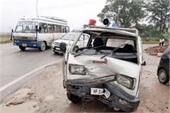 collision between car and police van