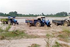 six tractor caught during illegal mining