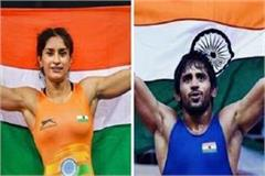 more expectation from vinesh and bajrang for medals in tokyo olympics