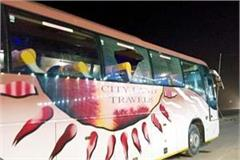 4 volvo buses going from manali to delhi missing from the middle road