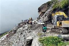 landslide on manali leh route