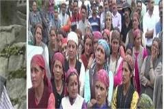 narkanda gardeners took to the streets against the government
