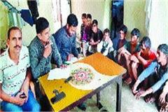 strict action against the laborer on the wages of minor children