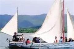 cadets performing feat in gobindasagar lake