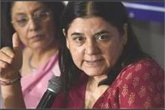 maneka gave the gift of namo one to the parliamentary constituency