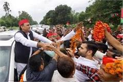 akhilesh yadav is coming to rampur his grand welcom
