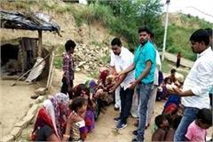 block president bhanu pratap met flood victims