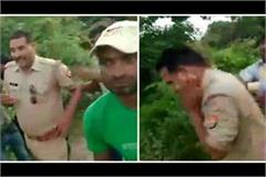 villagers run and beaten up police
