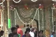 hatkoti temple decorated like a bride devotees throng in navratri