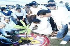 under hara bhopal sheetal bhopal cm planted plants