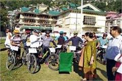 cycle rally in dhalpur