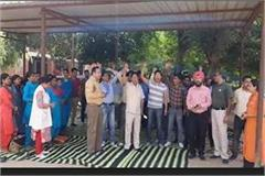 slogans of haryana government murdabad in tohana civil hospital