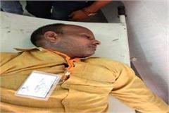 a cleaning worker suresh dies during yogi adityanath program