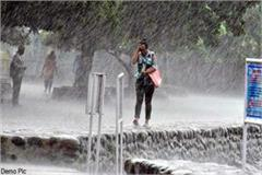 warning of heavy rain