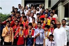haryana players incinerate in khel mahakumbh gold in kabaddi