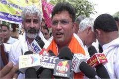 ashok tanwar reached the dharna of ravidas community