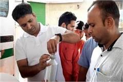 allegations of adulteration of water in petrol department filled samples