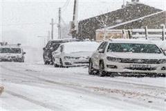 manali baralacha half foot snow
