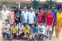 sub junior ball bedminton team