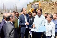cm take review of heliport and perimeter house works