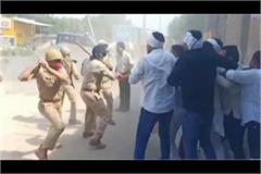 lathi charge on rld leader jayant chaudhary in hathras