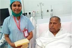 sp patron mulayam singh yadav improved in health