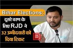 rjd gave tickets to 32 candidates for the second phase