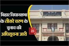 notification for the third phase of bihar assembly elections