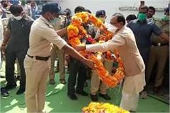 shivraj attended martyr dhirendra tripathi funeral