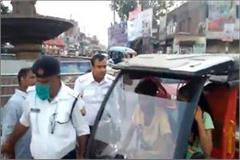 high voltage drama of lover and girlfriend riding an in front of the police