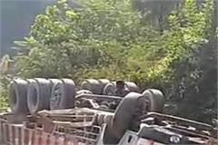 driver dies after truck overturns in bamta