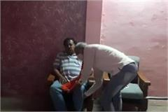 spokesman umesh sharma pressed jagmohan verma s feet