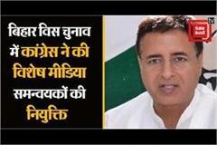 congress appoints special media coordinators in bihar election
