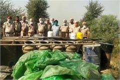 police and excise department caught liquar