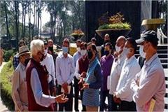 kishan kapoor inspected the ongoing construction works at shaheed memorial