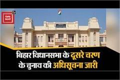 notification released for second phase of bihar legislative assembly