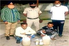 paonta sahib liquor recovered 2 arrested
