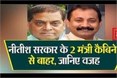 2 ministers of nitish government out of cabinet