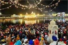 devotees at sri harmandir sahib on light festival of guru ramdas ji
