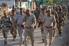 police increased patrol for deepawali barricades planted in the market